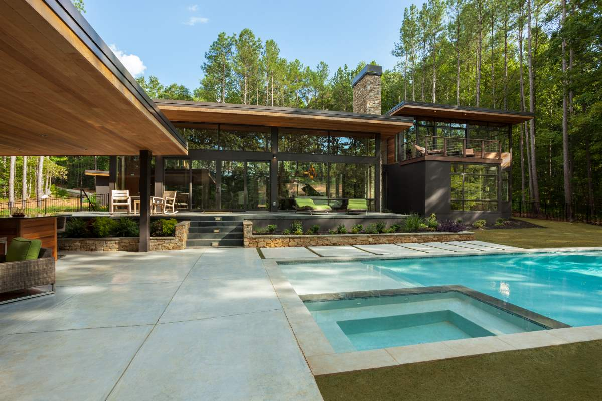Lake Norman Modern Retreat Gallery Artistic Contractors