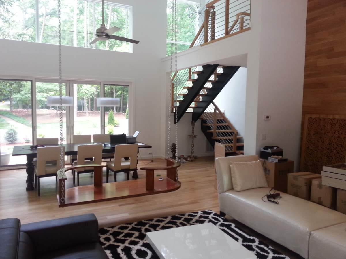 Open Concept Floor Plan with Floating Staircase | Artistic ...