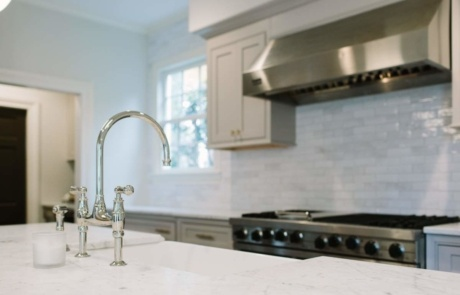 Eclectic Faucet with Farmers Sink Charlotte
