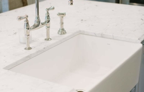 Farmers Sink with Eclectic Faucet