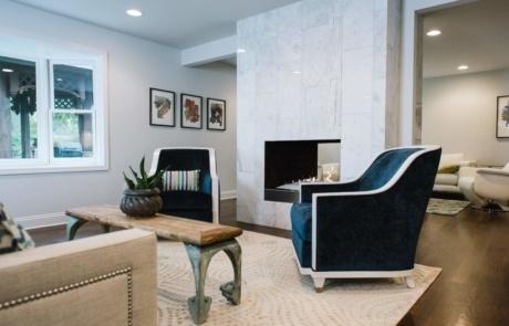 Modern Tile Fireplace South Park Charlotte
