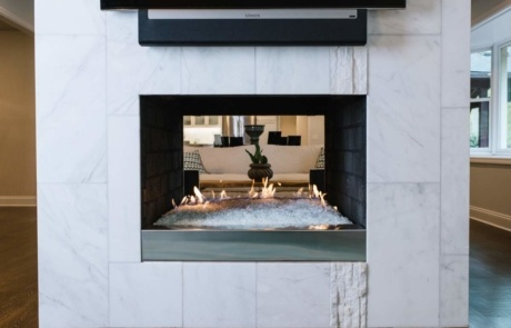 Two Sided Modern Fireplace Charlotte