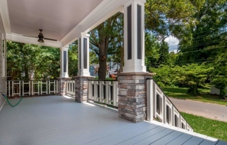 Spacious Front Porch Home Renovation Charlotte