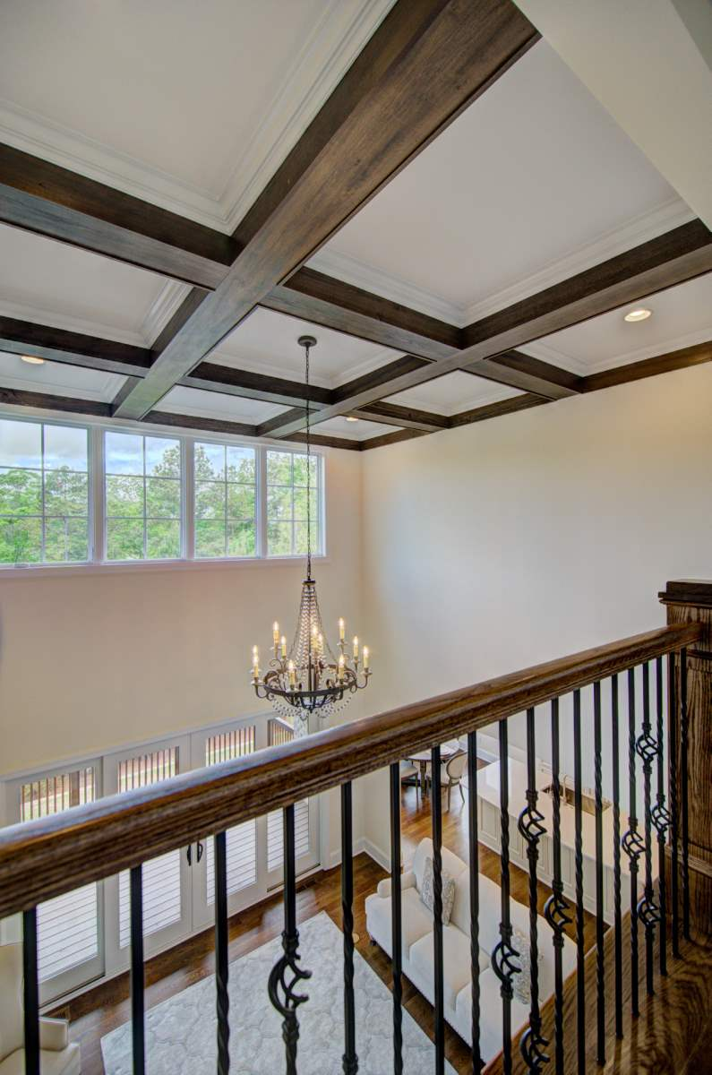 Tega Cay Tudor Enclave Coffered Ceiling & Railing