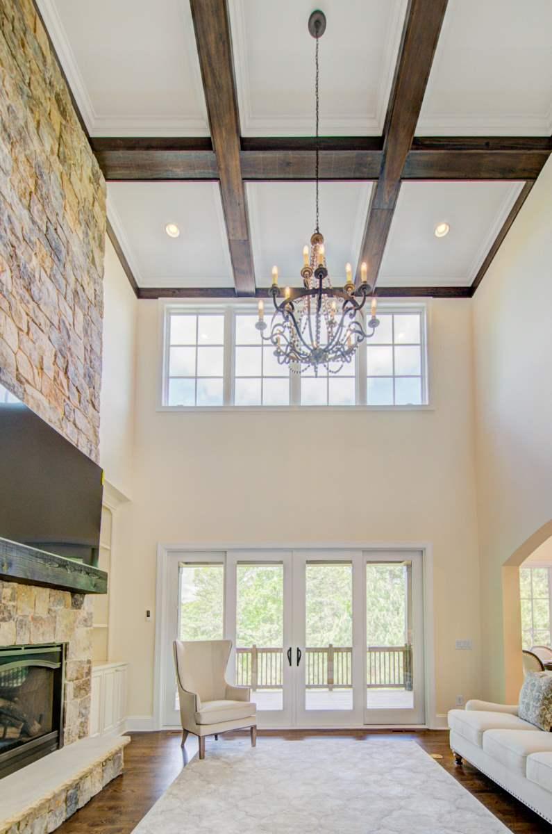 Tega Cay Tudor Enclave Living Room & Deck
