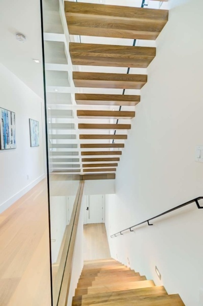 Urban Modern Sanctuary Floating Staircase